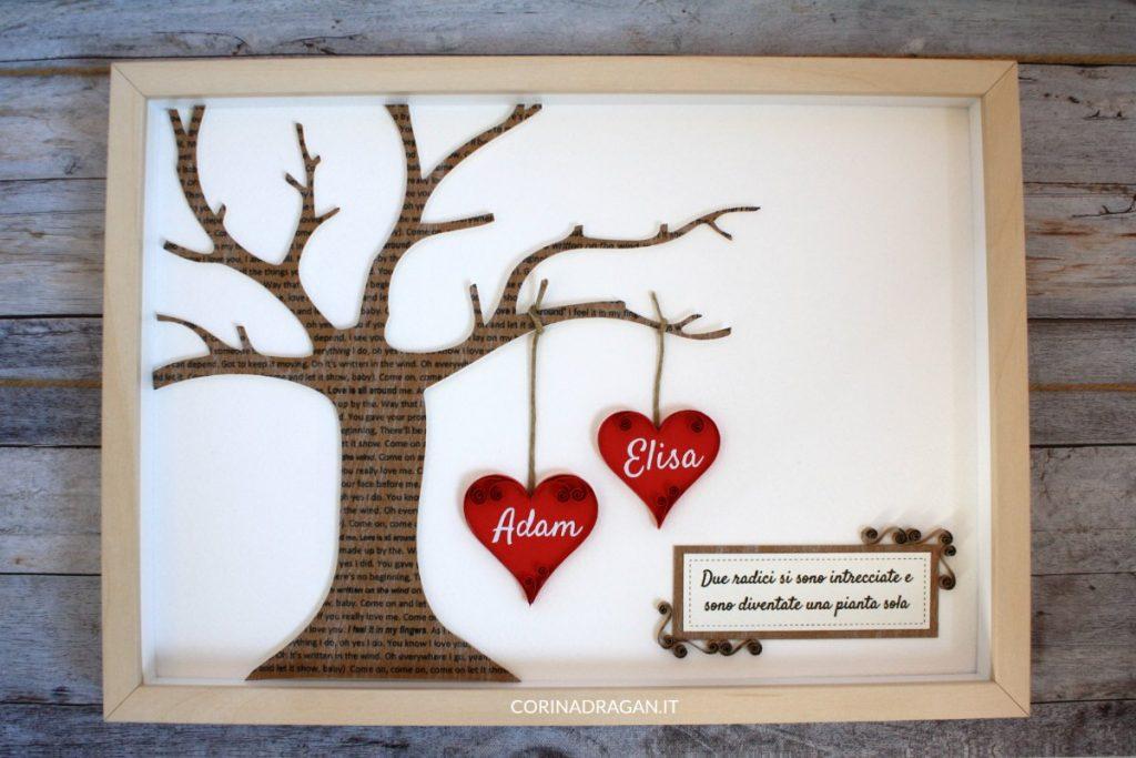 quadri da regalare nozze di carta