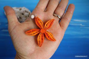 ciondolo stella marina in quilling