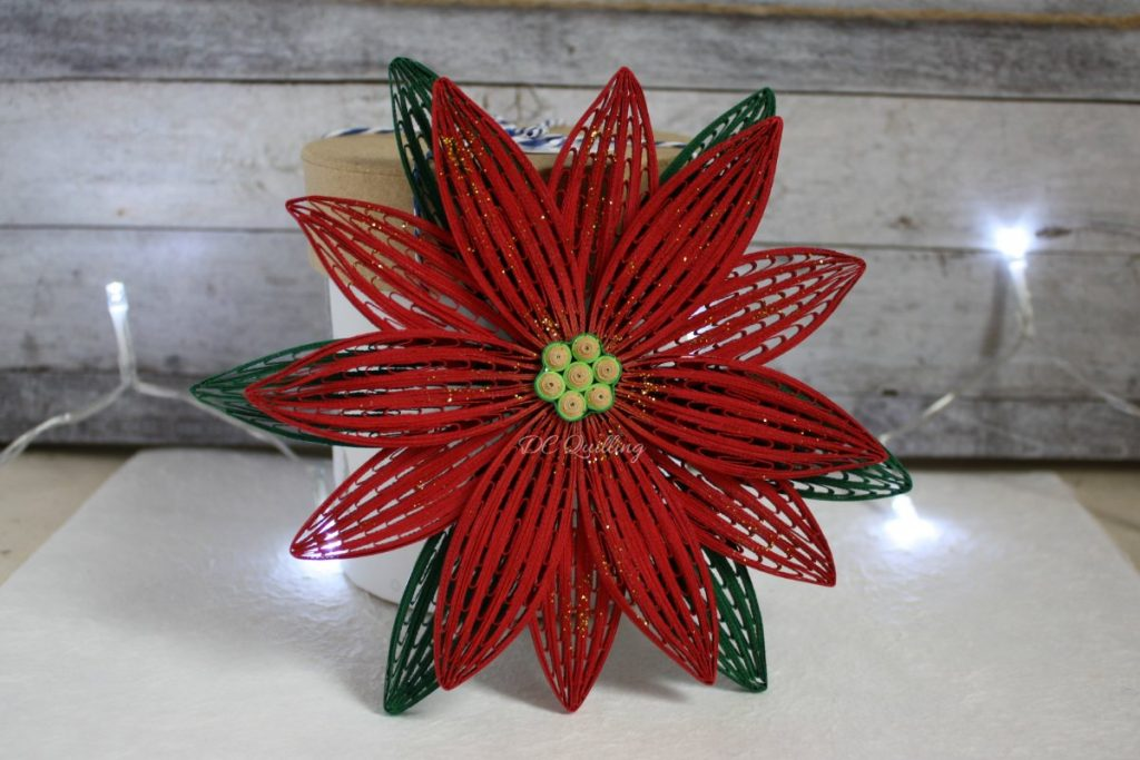 addobbi natalizi fai da te fuoriporta a forma di stella di Natale