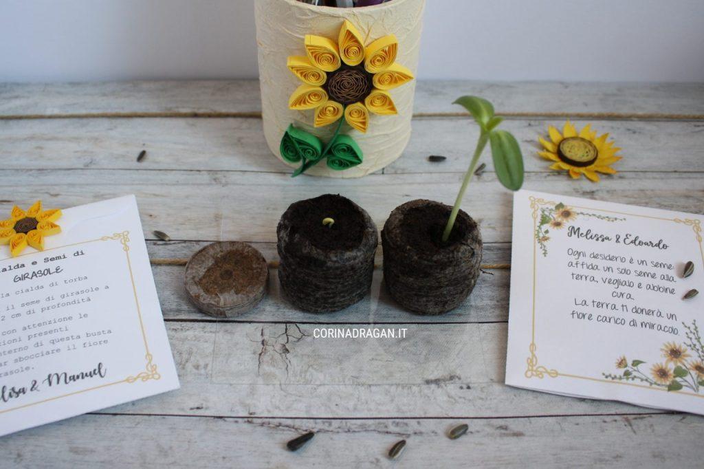 bustina con semi da piantare come segnaposto matrimonio