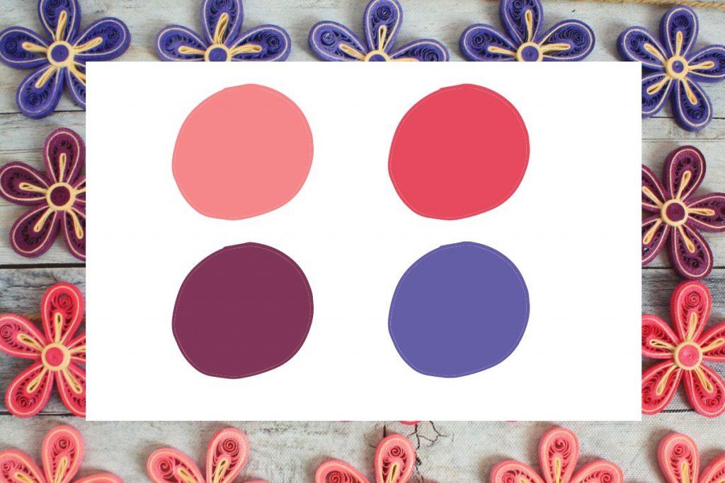 palette colori bomboniere battesimo bimba
