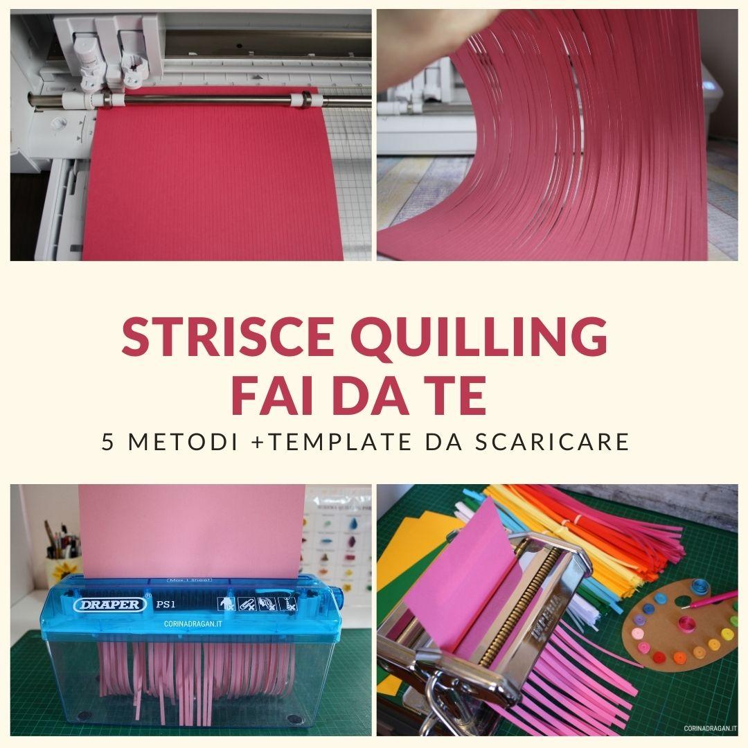 strisce quilling fai da te tutorial