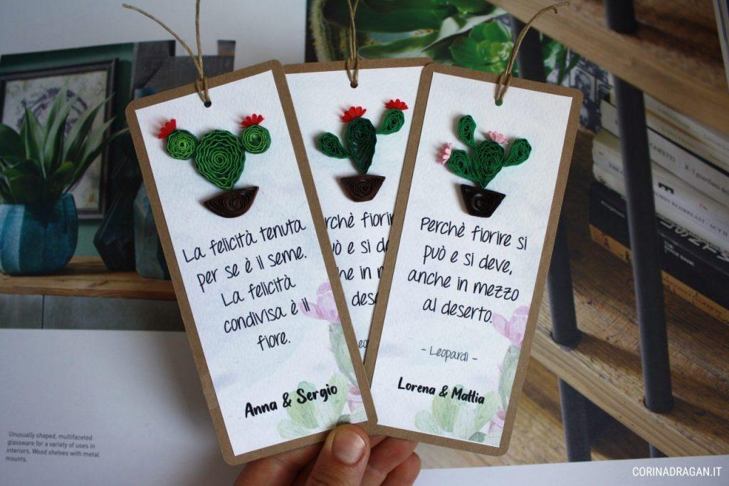 segnaposto matrimonio tema cactus