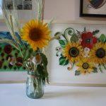 arredo soggiorno quadri artistici floreali quilling